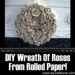 DIY Wreath Of Roses From Rolled Paper