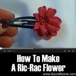 How To Make A Ric-Rac Flower