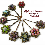 DIY Lotus Flower Hairpins