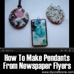 How To Make A Round Pendant From Newspaper Flyers