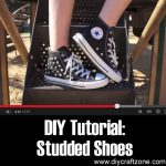 DIY Tutorial: Studded Shoes