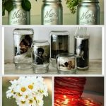 24 Best DIY Mason Jar Vases, Votives & Photo Holders