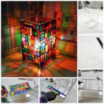 Awesome Faux Stained Glass Mosaic Luminary