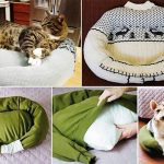 Upcycled Sweater: Cat Bed